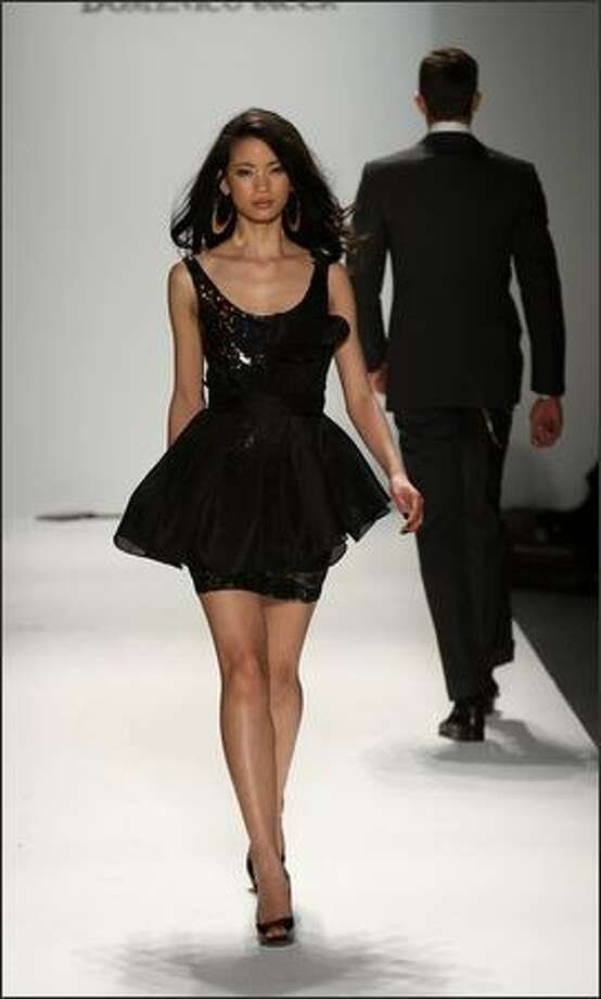 A model walks the runway at the Domenico Vacca Fall 2009 fashion show during Mercedes-Benz Fashion Week in the Salon at New York's Bryant Park on Tuesday, Feb. 17, 2009. Photo: Getty Images