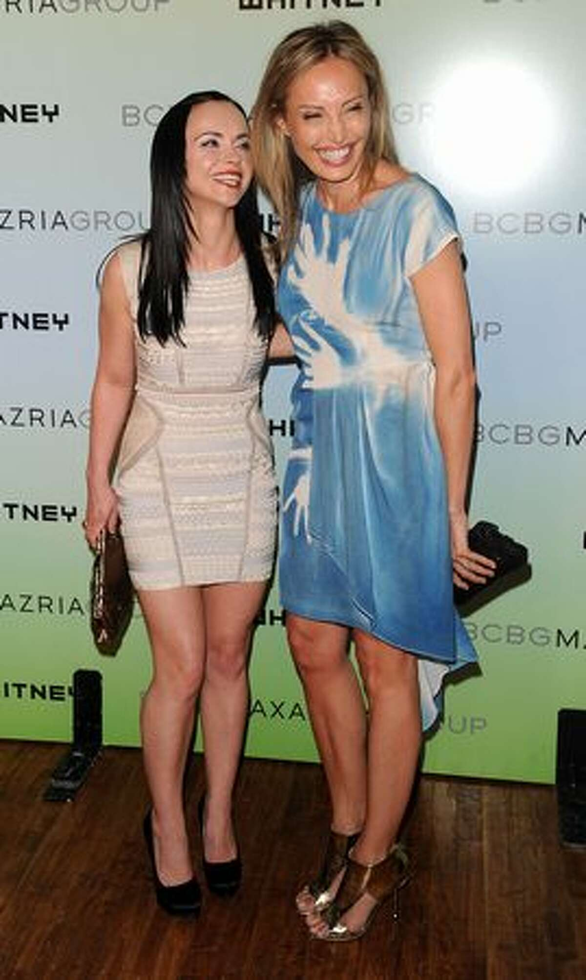 Actress Christina Ricci and Lubov Azria attend the Whitney Museum Art Party 2010 at 82 Mercer in New York City.