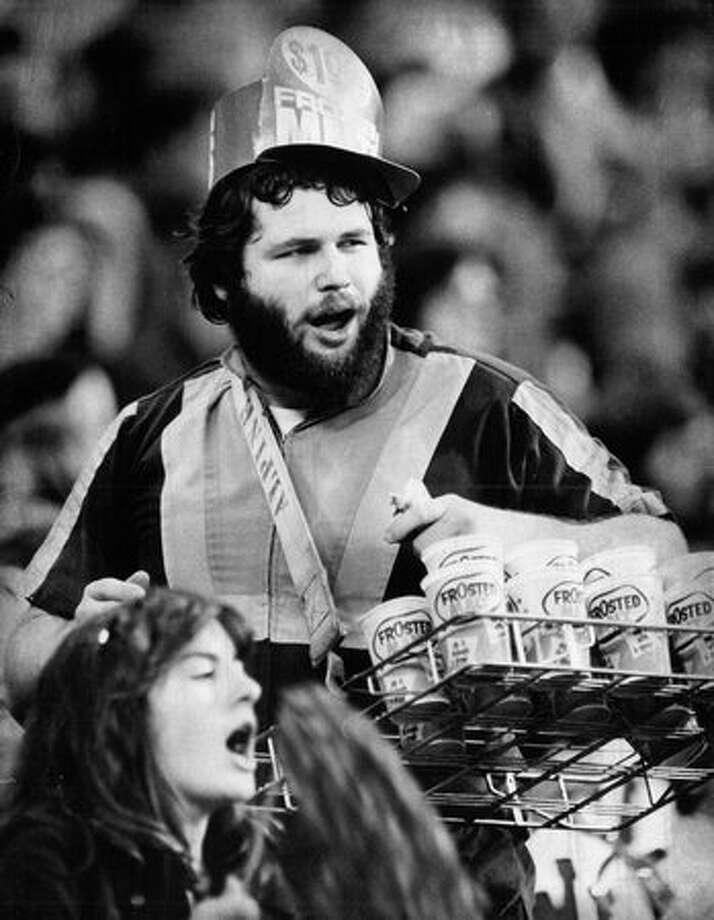 Bill Scott, better known as Bill the Beerman, at the Kingdome in 1979. Scott died in 2007. Photo: P-I File