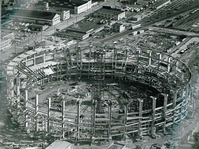 Kingdome construction, May 5, 1974.
