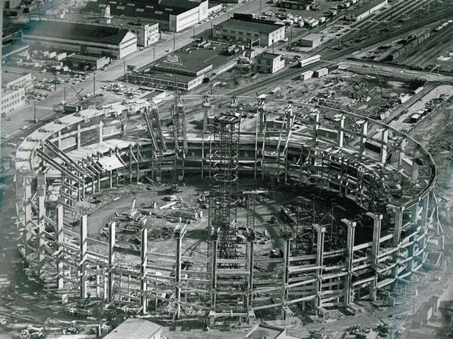 Kingdome construction, May 5, 1974. Photo: P-I File