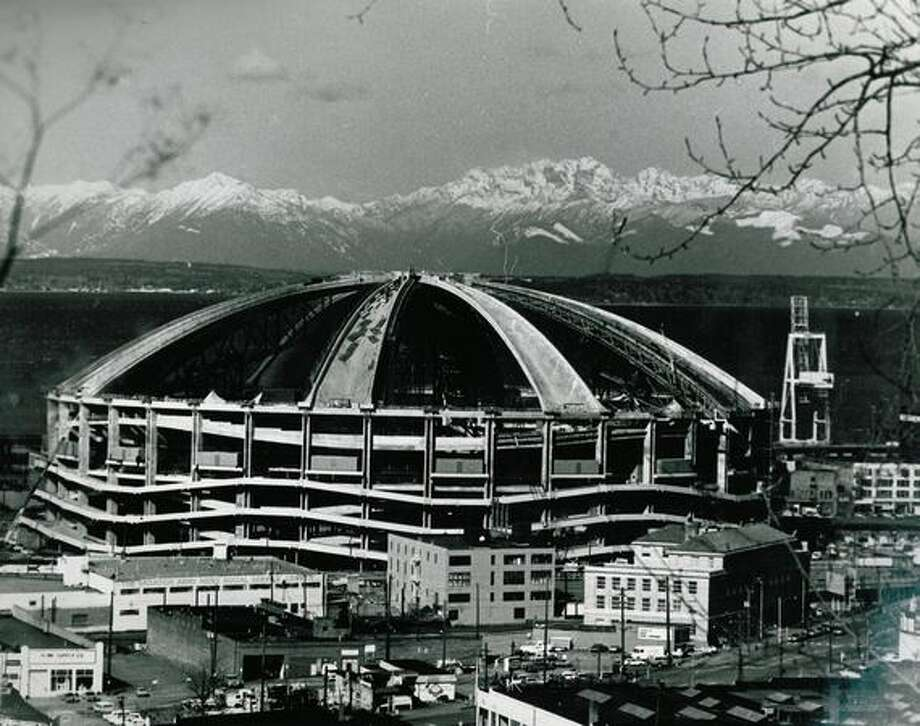 Kingdome construction, March 15, 1975. Photo: P-I File