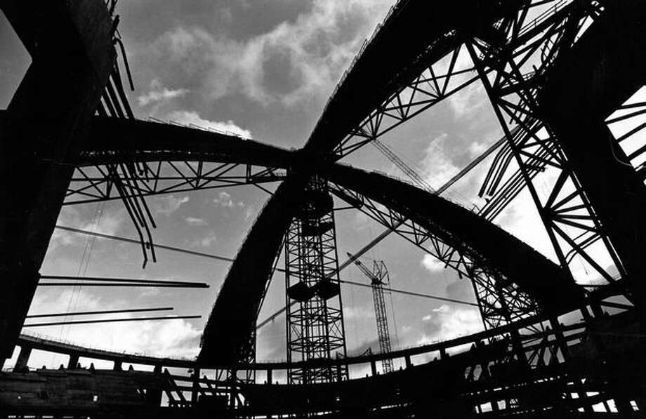 Kingdome construction, Dec. 11, 1972. Photo: P-I File