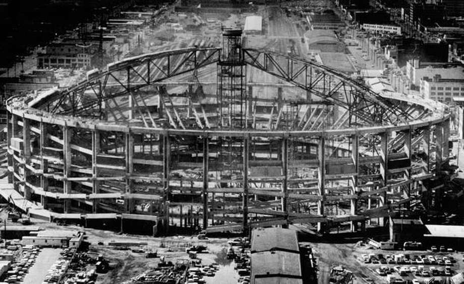 Kingdome construction, June 17, 1974. Photo: P-I File