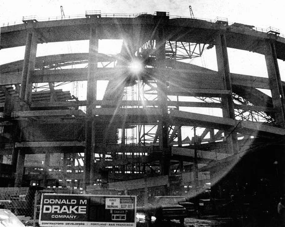 Kingdome construction, Dec. 4, 1974. Photo: P-I File