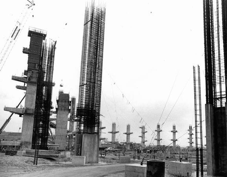 Kingdome construction, June 26, 1973. Photo: P-I File