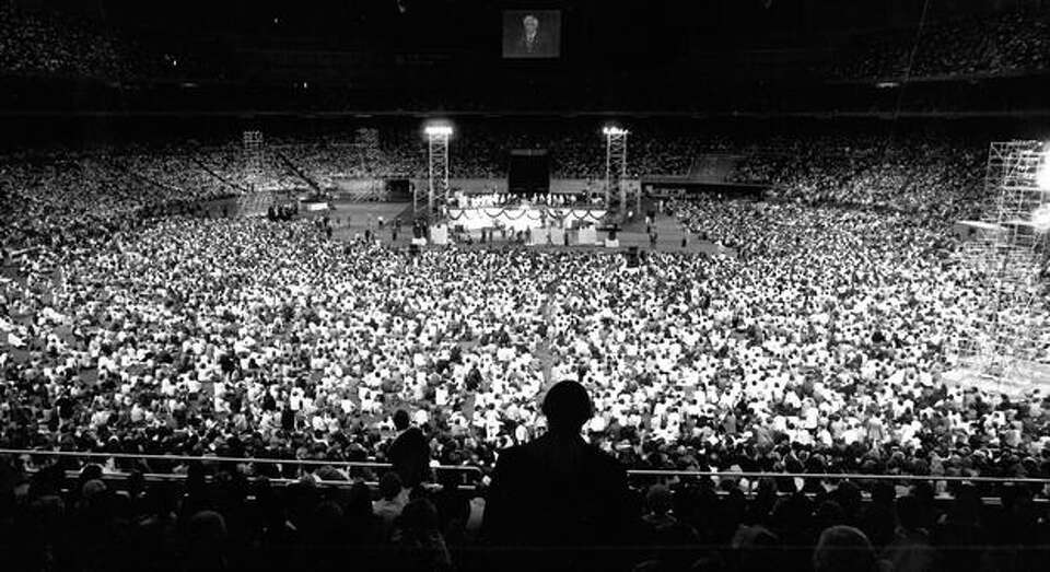 The Kingdome opening ceremonies, March 1976.