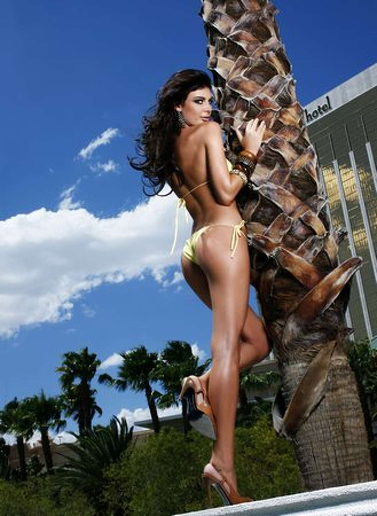 Angela Martini, Miss Albania 2010, poses for fashion photographer Fadil Berisha at Mandalay Bay Resort and Casino in Las Vegas. She and the rest of the 83 contestants will compete for the coveted Diamond Nexus Labs Crown to be worn by the new Miss Universe on Monday night.