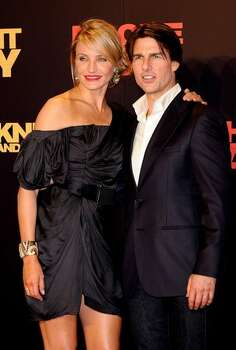 "Tom Cruise and Cameron Diaz attend ""Knight and Day"" premiere at the Lope de Vega Theater in Seville, Spain. Photo: Getty Images"