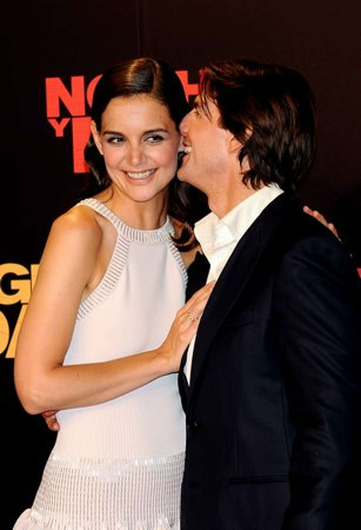 Tom Cruise and wife Katie Holmes attend