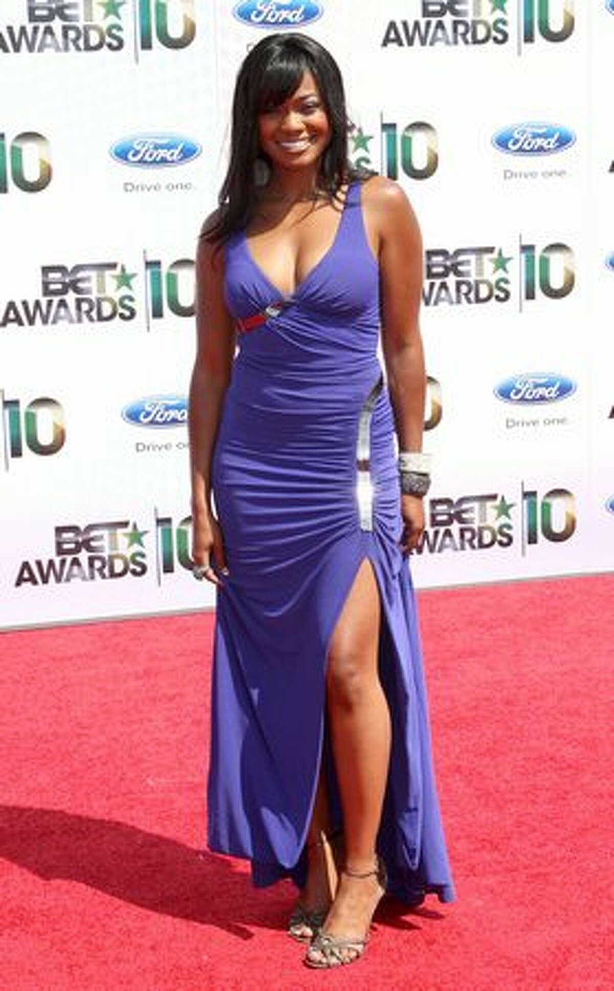 Actress Tatyana Ali arrives at the 2010 BET Awards held at the Shrine Auditorium in Los Angeles on Sunday, June 27, 2010.
