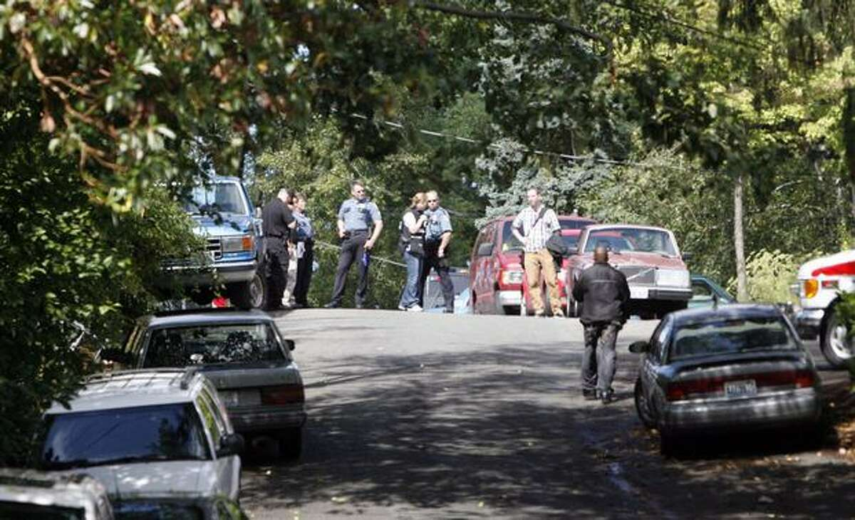 Police in the 13700 block of Midvale Avenue North, where officers say a mentally ill man barricaded himself in his North Seattle apartment building and refused to cooperate with police for more than eight hours Wednesday. SWAT members, a mental health professional were among those who responded to the scene. The man was hit with a Taser, evaluated by medics and taken to Harborview Medical Center for an involuntary mental evaluation, police spokeswoman Renee Witt said. No shots were fired, police said.