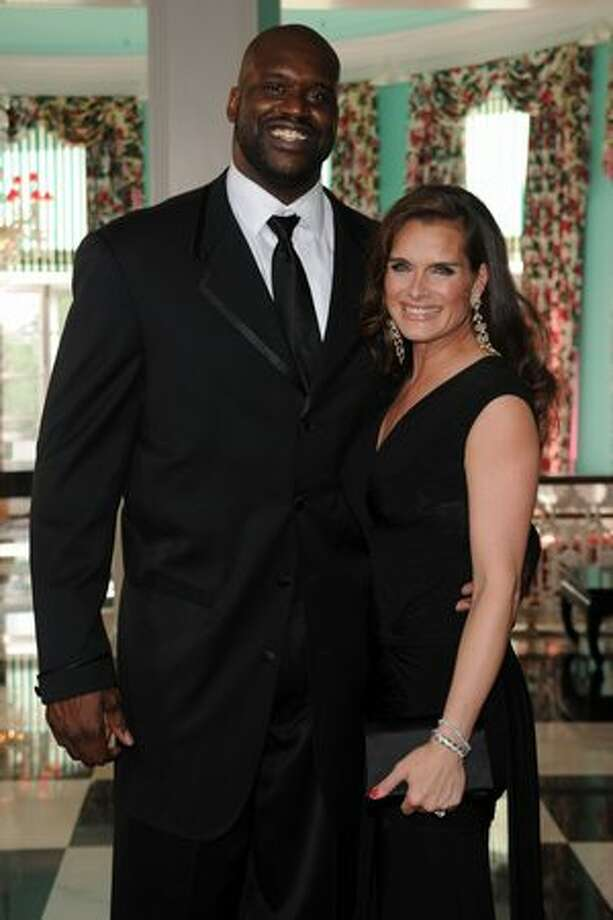 Shaquille O'Neal and Brooke Shields attend the grand opening Photo: Getty Images