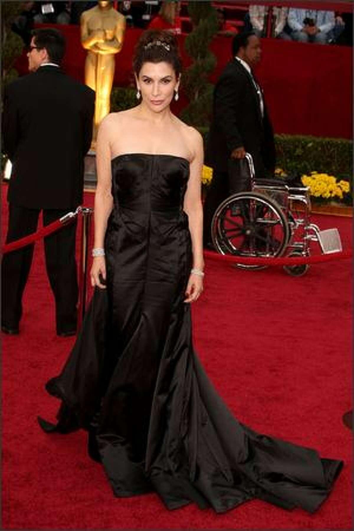 Actress Jo Champa shows how to wear a tiara.