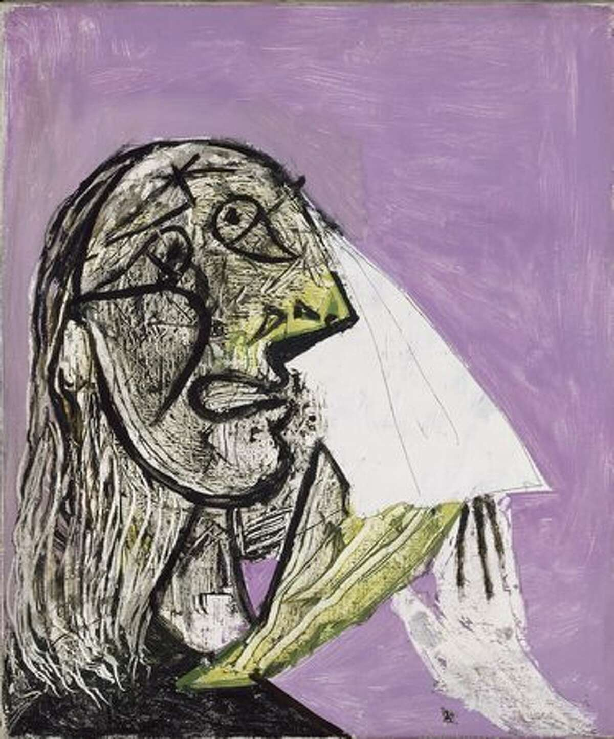 Weeping Woman, 1937. Oil on canvas, 55.3 x 46.3 cm.