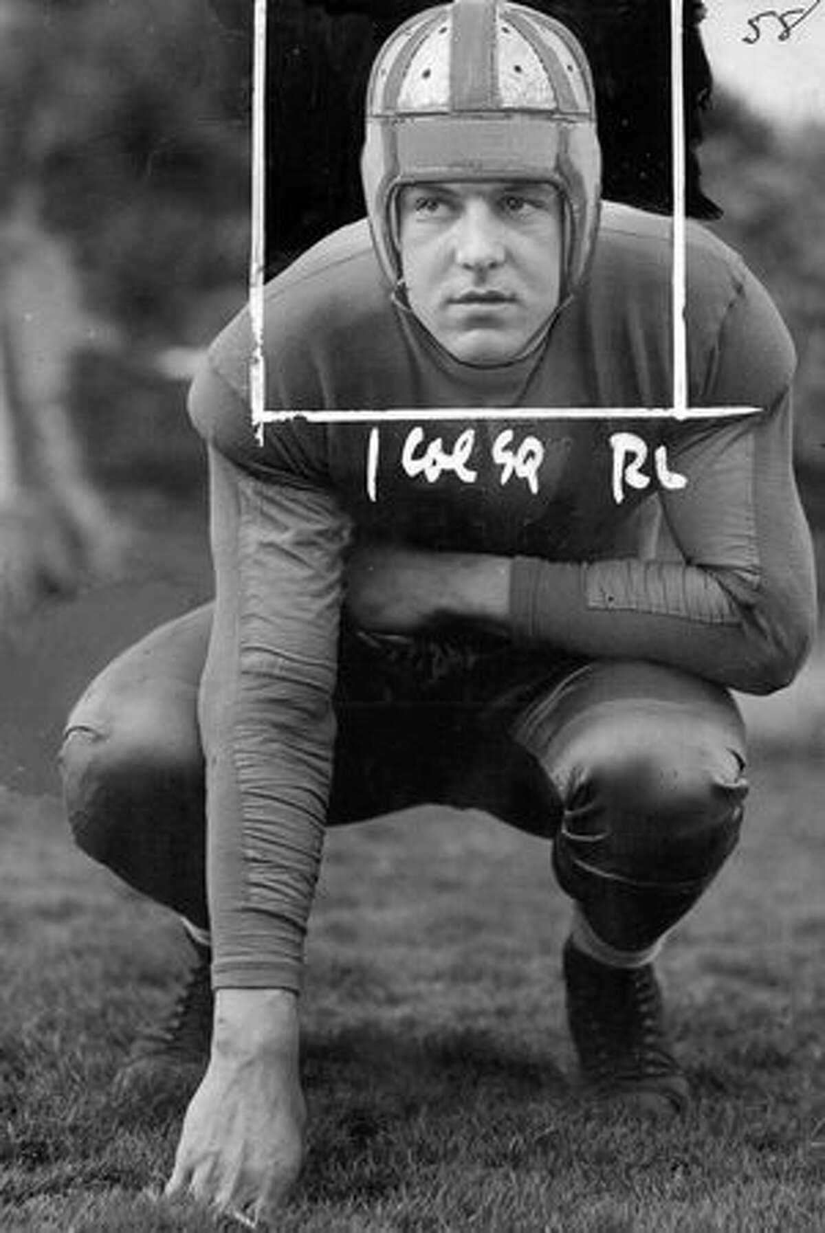 UW football player Bill Smith in 1933.