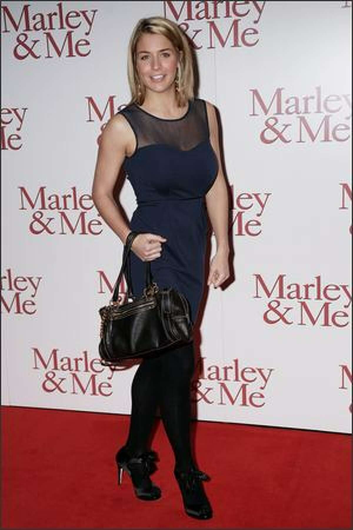 Gemma Atkinson attends the UK premiere of Marley and Me held at The Vue Cinema, Leicester Square on March 2, 2009 in London, England.