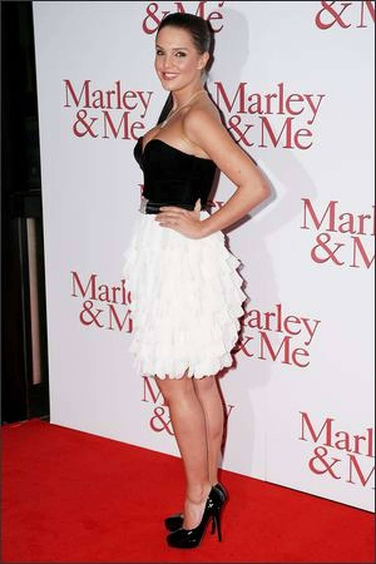 Danielle Lloyd attends the UK premiere of Marley and Me held at The Vue Cinema, Leicester Square on March 2, 2009 in London, England.