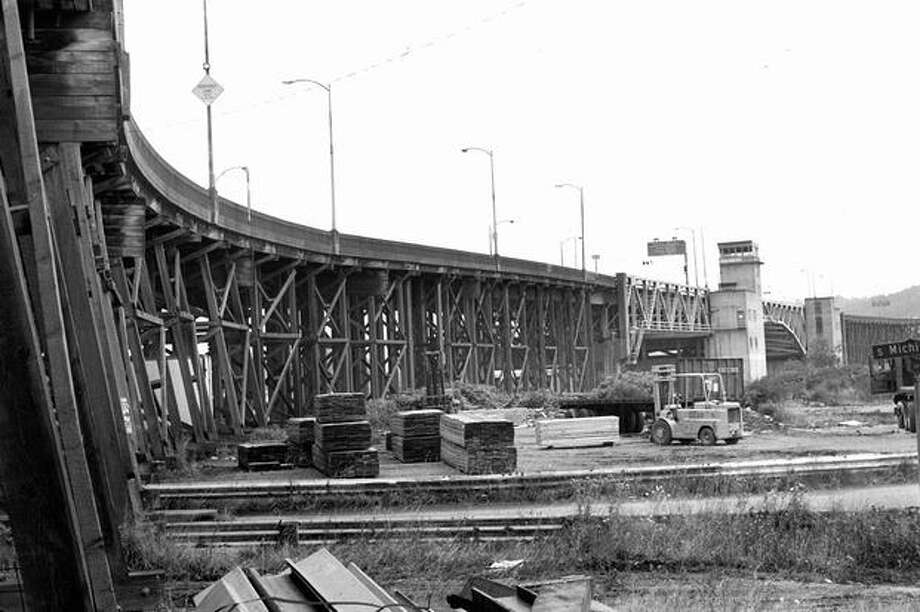 The First Avenue South Bridge, Aug. 31, 1983. Photo: P-I File