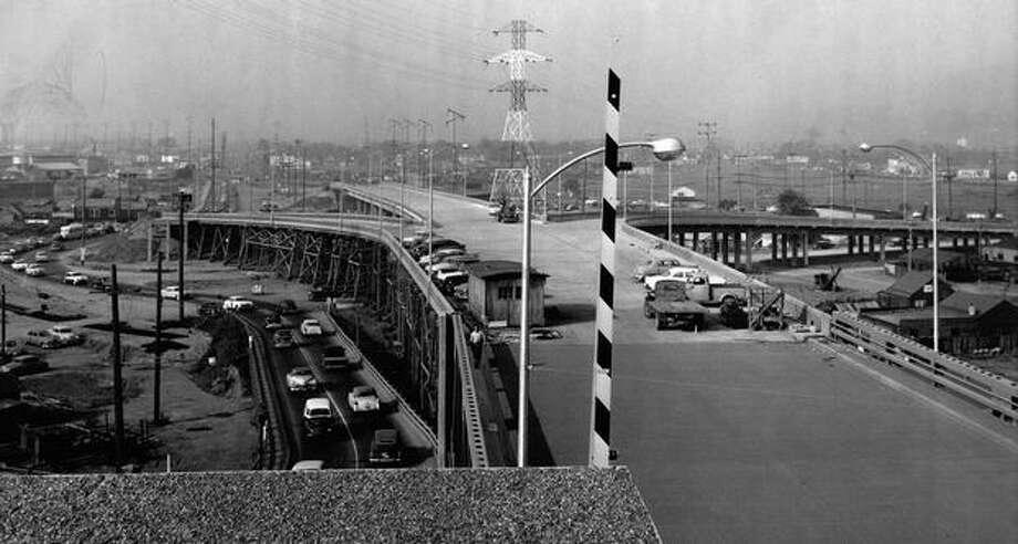 The First Avenue South Bridge, Sept. 21, 1956. Photo: P-I File