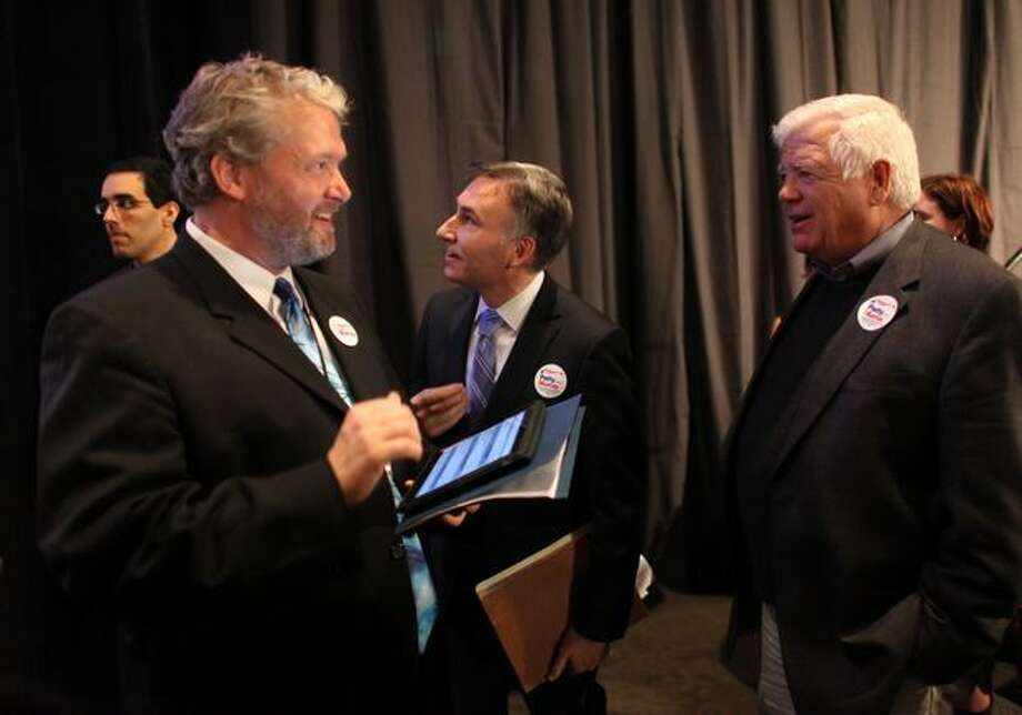Washington State Democratic Party Chair Jaxon Ravens (l) is seeking reelection.  He is under fire from some party activists after a string of Democratic losses in legislative races, and a dismal showing by the party outside of King County.  Photo: Joshua Trujillo, Seattlepi.com