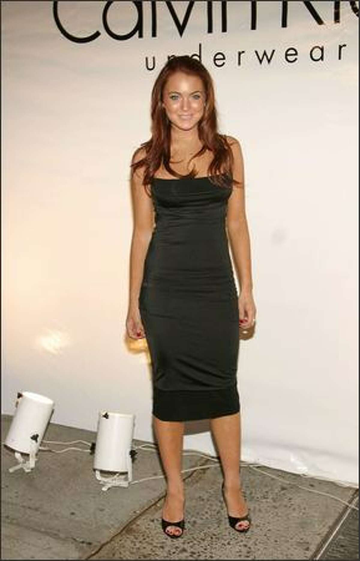 May 2004: At a Calvin Klein underwear party in New York.