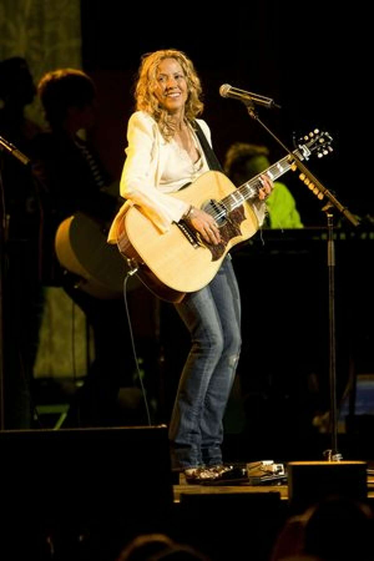 Sheryl Crow (1962-): An American singer, songwriter and musician. Hear a sample and shop at Amazon: The Very Best of Sheryl Crow (Photo by Kane Hibberd/Getty Images)