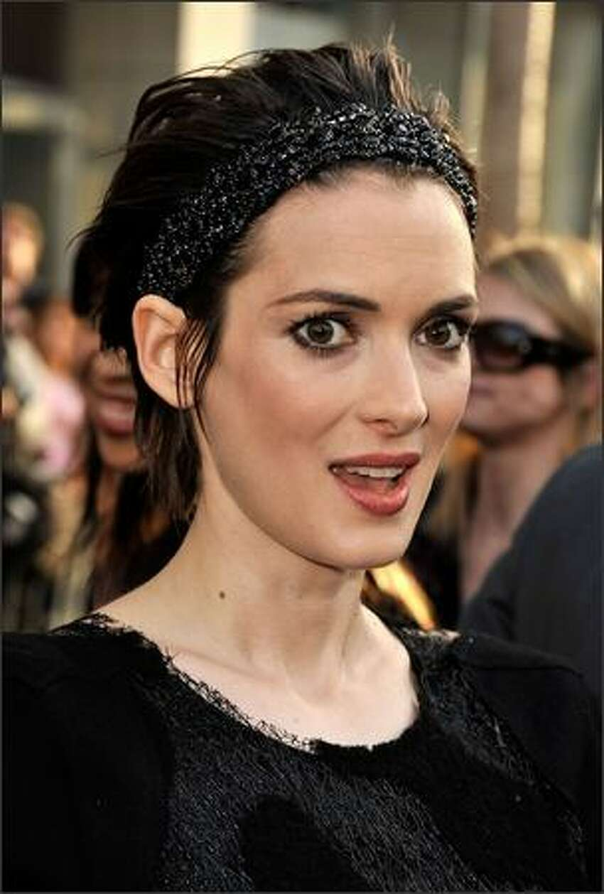 Actress Winona Ryder arrives on the red carpet of the Los Angeles premiere of
