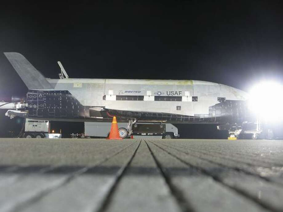 On Dec. 3, 2010 the Boeing-built X-37B unmanned space vehicle completed its first spaceflight, landing at Vandenberg Air Force Base, in California, after a 220-day mission for the U.S. Air Force. The X-37B is the first unmanned U.S. vehicle to return from space and land on its own and the only space vehicle other than the space shuttle that is capable of returning to earth for reuse, Boeing said. Photo: The Boeing Company