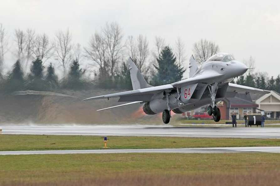 Here's the former Ukranian MiG-29 fighter in flight.