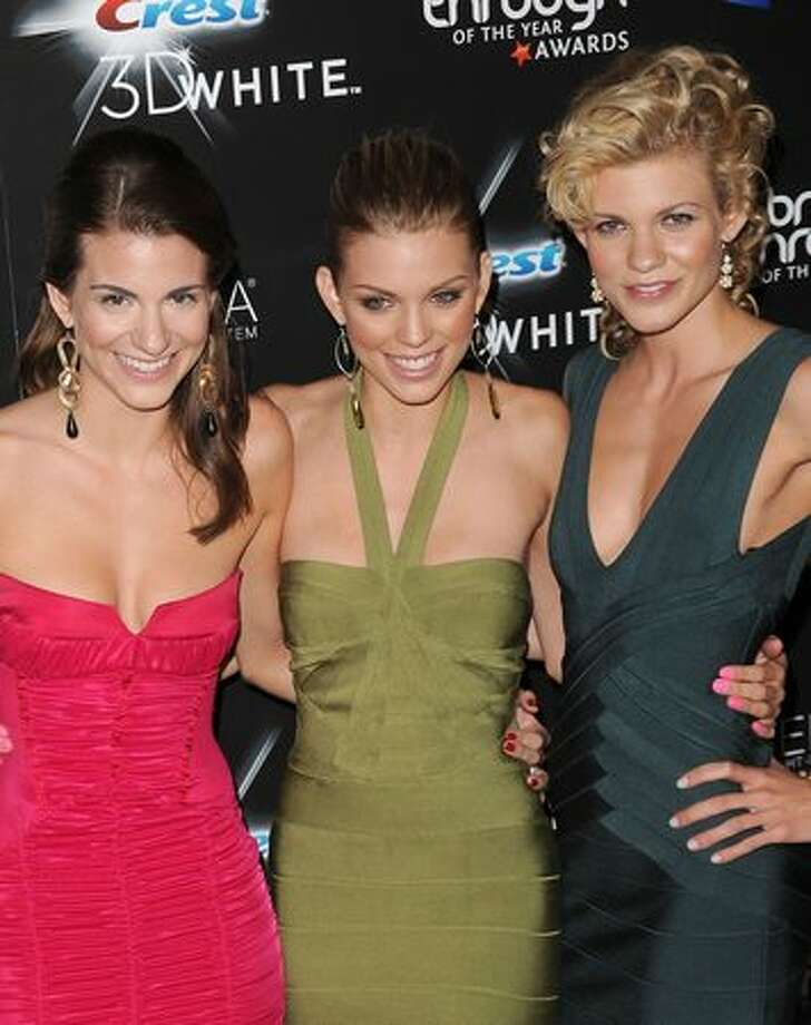 Actress Rachel McCord, actress AnnaLynne McCord, and actress Angel McCord arrive at the Breakthrough of the Year Awards presented by Crest 3D White at the Pacific Design Center in West Hollywood, Calif., on Sunday, Aug. 15, 2010. Photo: Getty Images