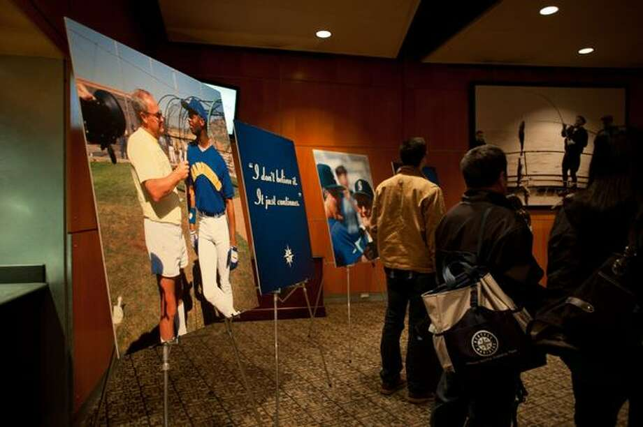 An exhibit in remembrance of Dave Niehaus, legendary announcer, took up an entire room. Photo: Elliot Suhr, Seattlepi.com