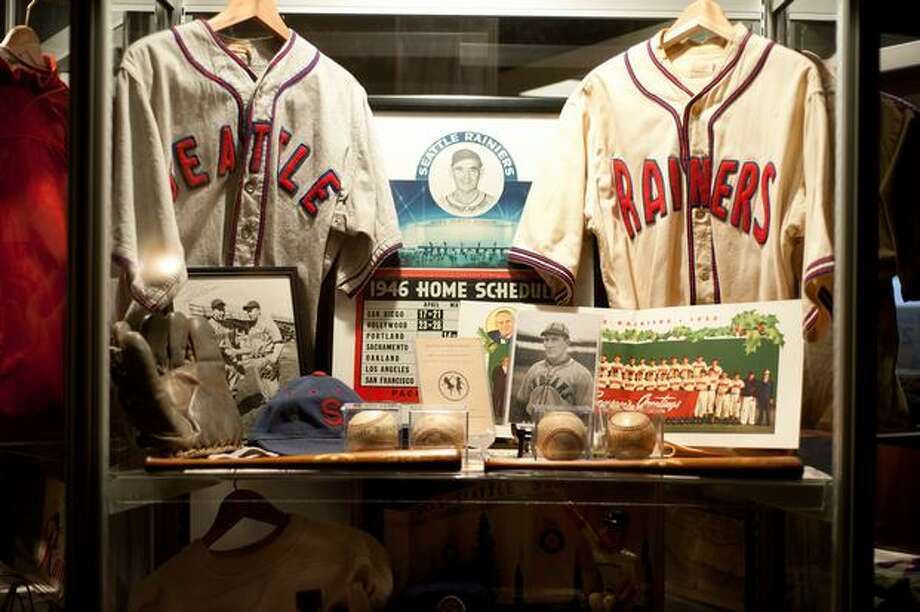 Old team jerseys and memorabilia were on display. Photo: Elliot Suhr, Seattlepi.com