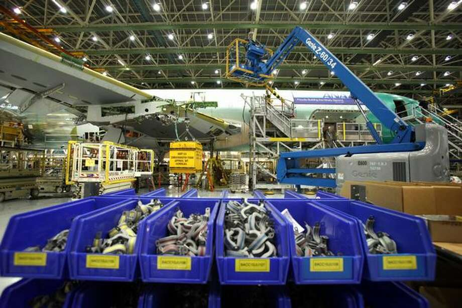The Boeing Co. is looking to hire its next wave of workers during a series of five job fairs around the Puget Sound region and in Yakima. Photo: Joshua Trujillo, Seattlepi.com