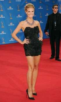 Heidi Klum arrives. Photo: Getty Images