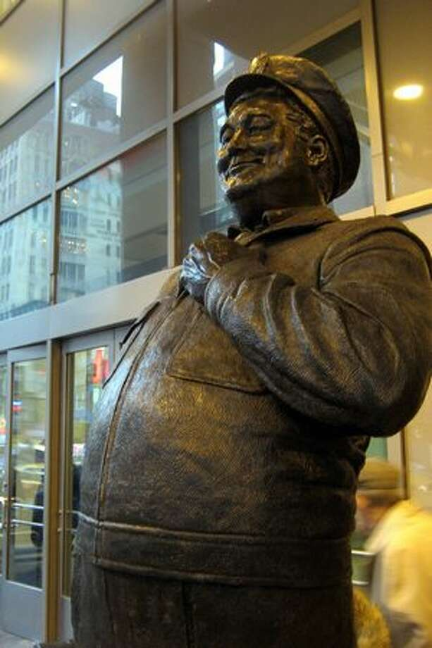 "Statue of Ralph Cramden, from ""The Honeymooners,"" in New York. (Wally Gobetz/flickr)