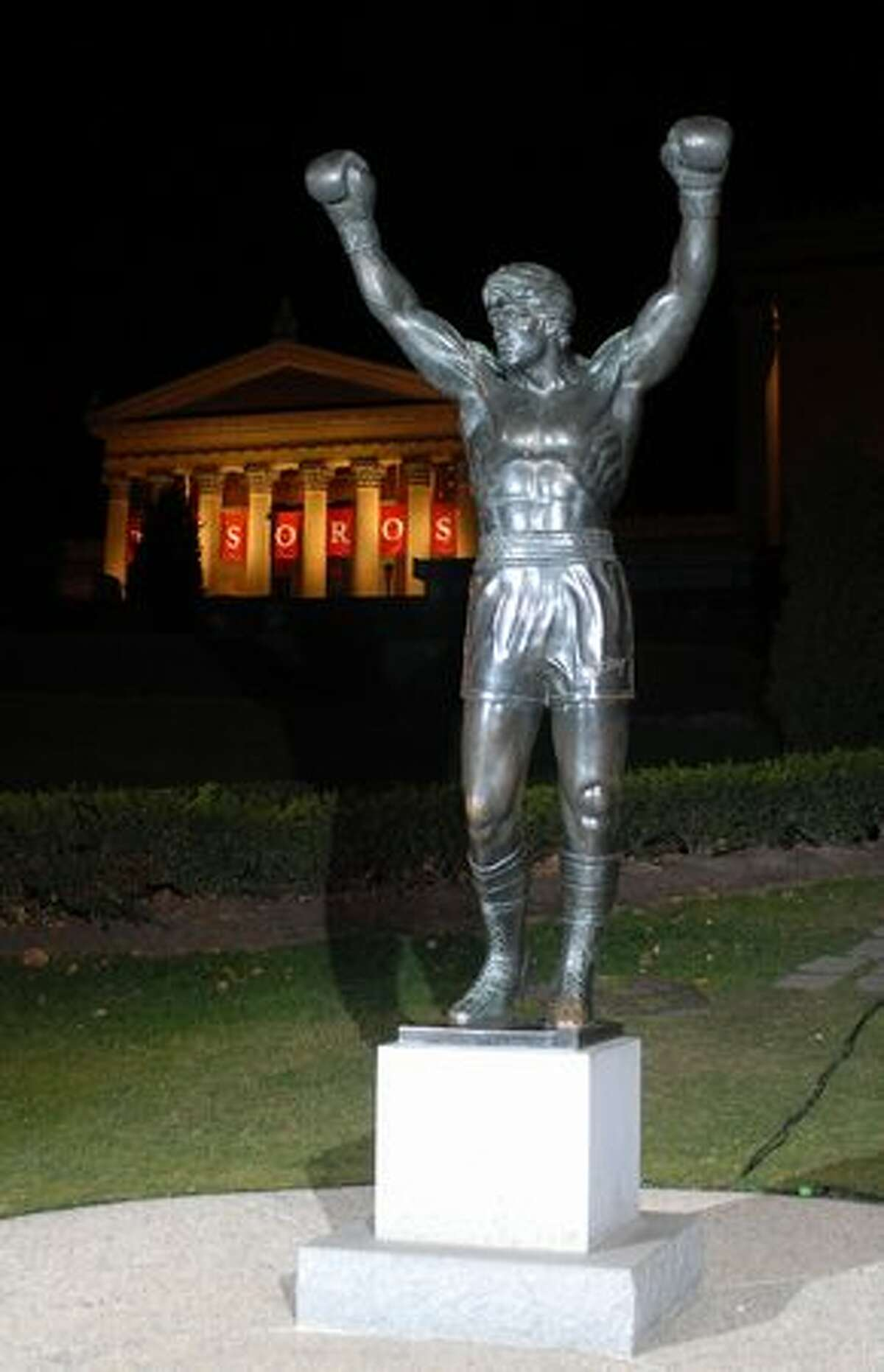 The Rocky statue in front of the Philadelphia Museum of Art. (William Thomas Cain/Getty Images for MGM) Related story