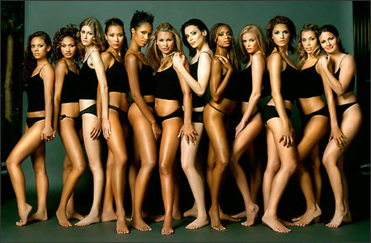 """""""America's Next Top Model"""" returns for a second season on UPN. An all-new group of women fiercely competes for a chance to reign in the high-stress, high-stakes world of a top model (l-r): Jenascia Chakos, Mercedes Scelba-Shorte, Shandi Sullivan, April Wilkner, Xiomara Frans, Heather Blumberg, Yoanna House, Camille McDonald, Catie Anderson, Sara Racey-Tabrizi, Bethany Harrison and Anna Bradfield."""