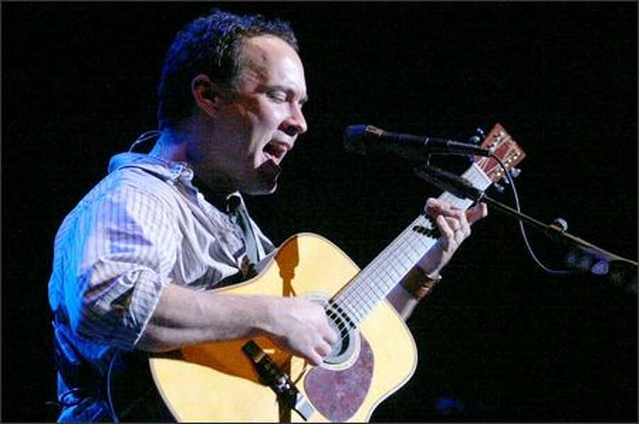 Dave Matthews performs at the KeyArena. Photo: Grant M. Haller, Seattle Post-Intelligencer