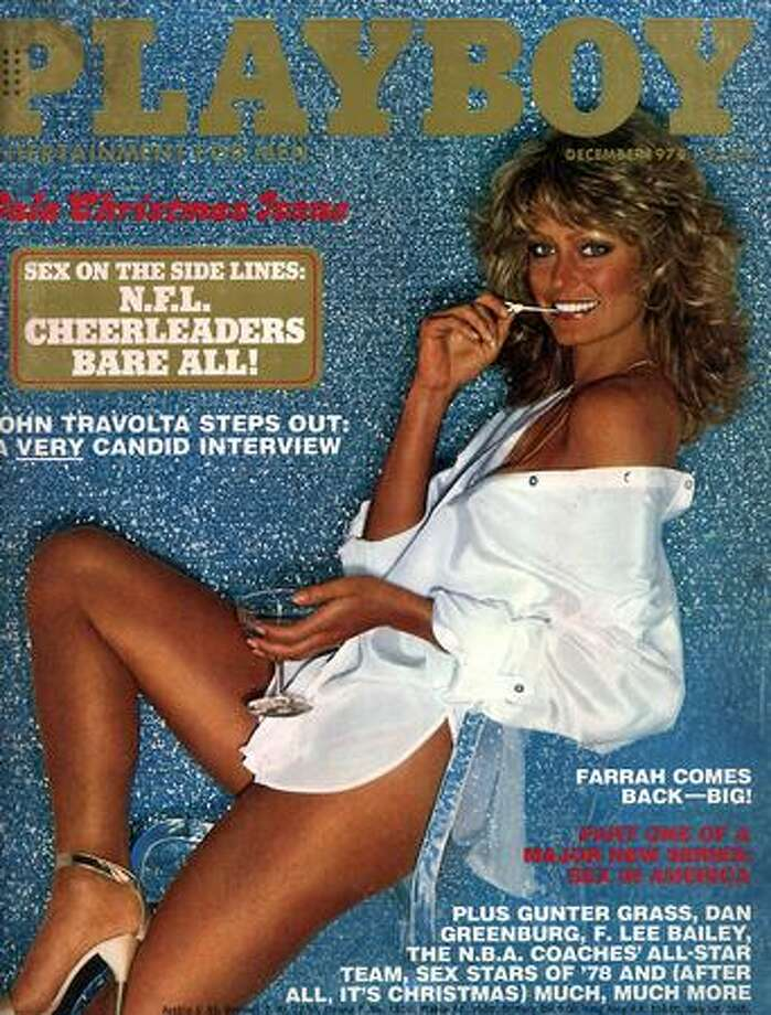 Farrah Fawcett appeared in Playboy several times, beginning in 1978.  She appeared semi-nude in the 1995 issue. Photo: Getty Images