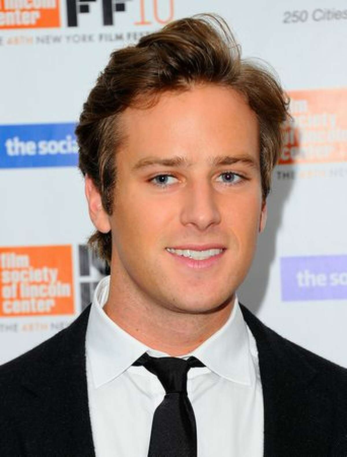 """Actor Armie Hammer attends the premiere of """"The Social Network"""" during the 48th New York Film Festival at Alice Tully Hall, Lincoln Center in New York City."""