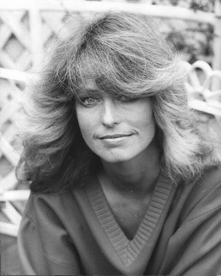 The American actress and star of 'Charlie's Angels', Farrah Fawcett, on a visit to London. Photo: Getty Images