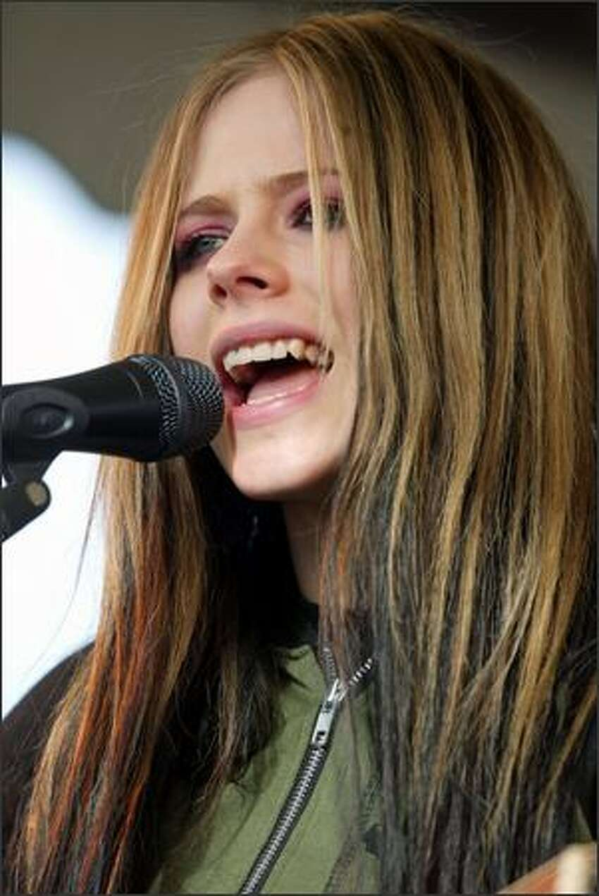 Avril Lavigne during her concert held at Southcenter Mall.