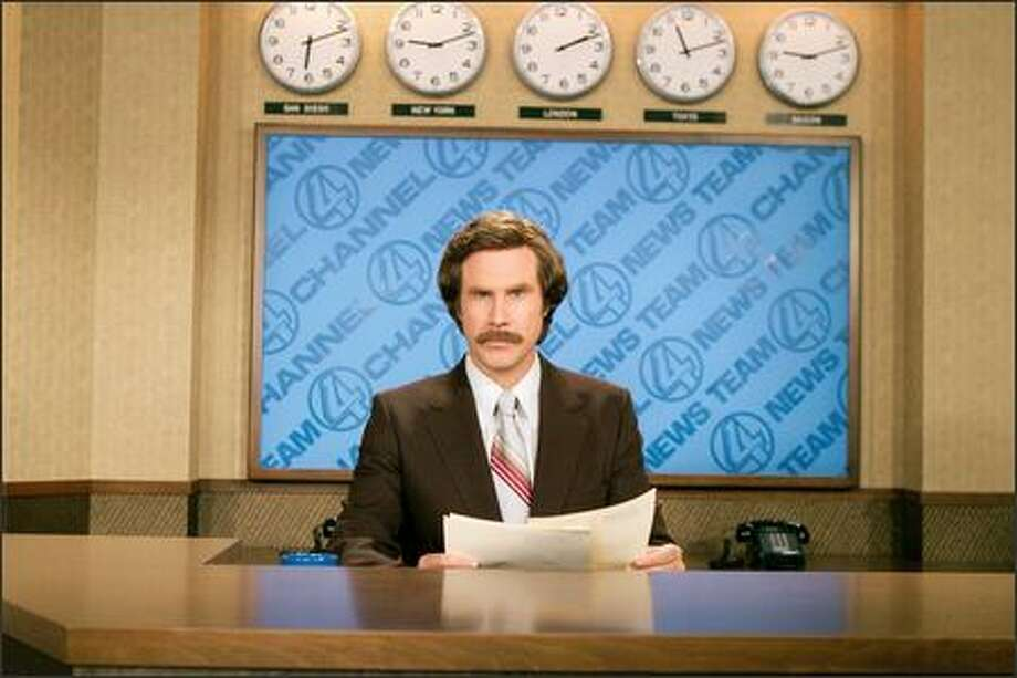 "Will Ferrell stars as Ron Burgundy in DreamWorks Pictures' ""Anchorman: The Legend of Ron Burgundy,"" a comedy set in San Diego in the '70s. Photo: Dreamworks"