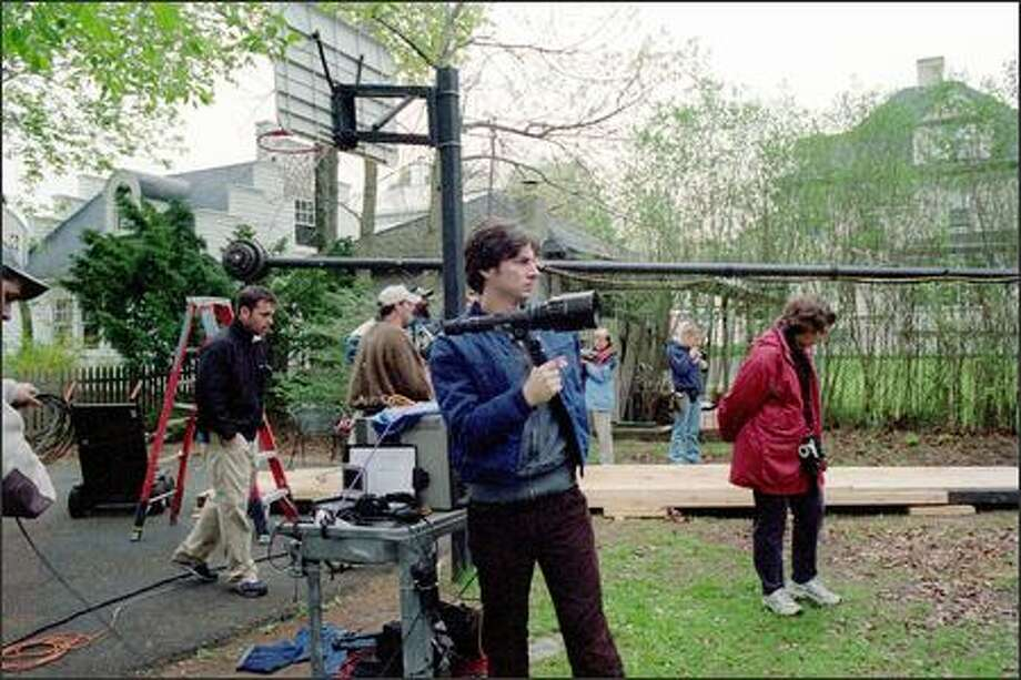 "Director Zach Braff, who also plays the lead role of Andrew ""Large"" Largeman, is seen on the set. Braff, who plays Dr. John ""J.D."" Dorian on the NBC-TV series ""Scrubs,"" also wrote the screenplay for ""Garden State."""