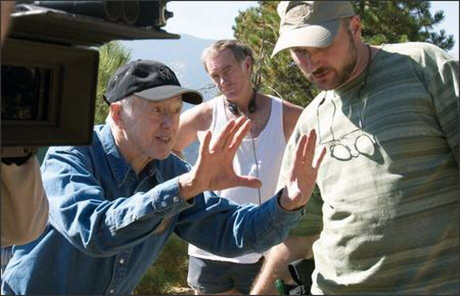 Haskell Wexler, John Sayles and Doug O'Kane work behind the scenes. Sayles wrote and directed the film, Wexler was the cinematographer and O'Kane was the assistant cameraman. Photo: Newmarket Films