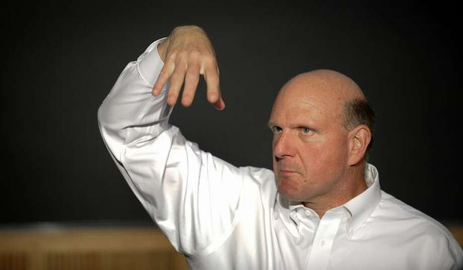 Ballmer speaks to the students of the Royal Institute of Technology in Stockholm, Sweden, on October 4, 2010. Photo: Getty Images