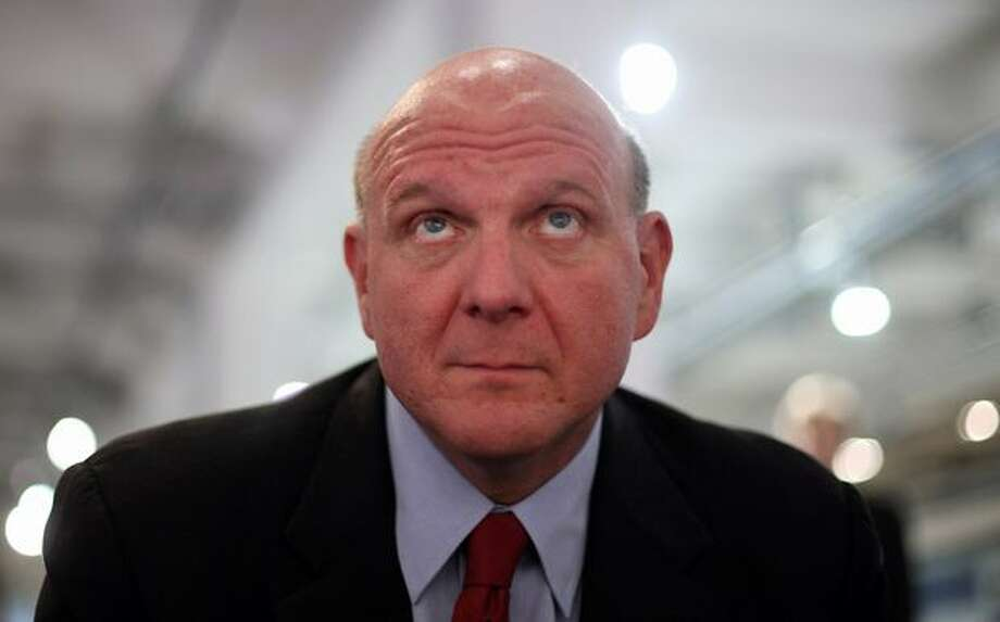 Ballmer looks on during a news conference on October 7, 2009, in Munich, Germany. Ballmer talked about the upcoming launch of Windows 7. Photo: Getty Images