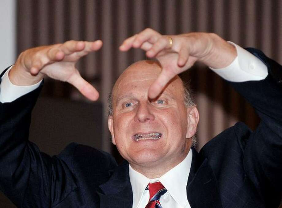 Ballmer speaks at a press briefing on November 2, 2009, at a hotel in Seoul, South Korea. Photo: Getty Images
