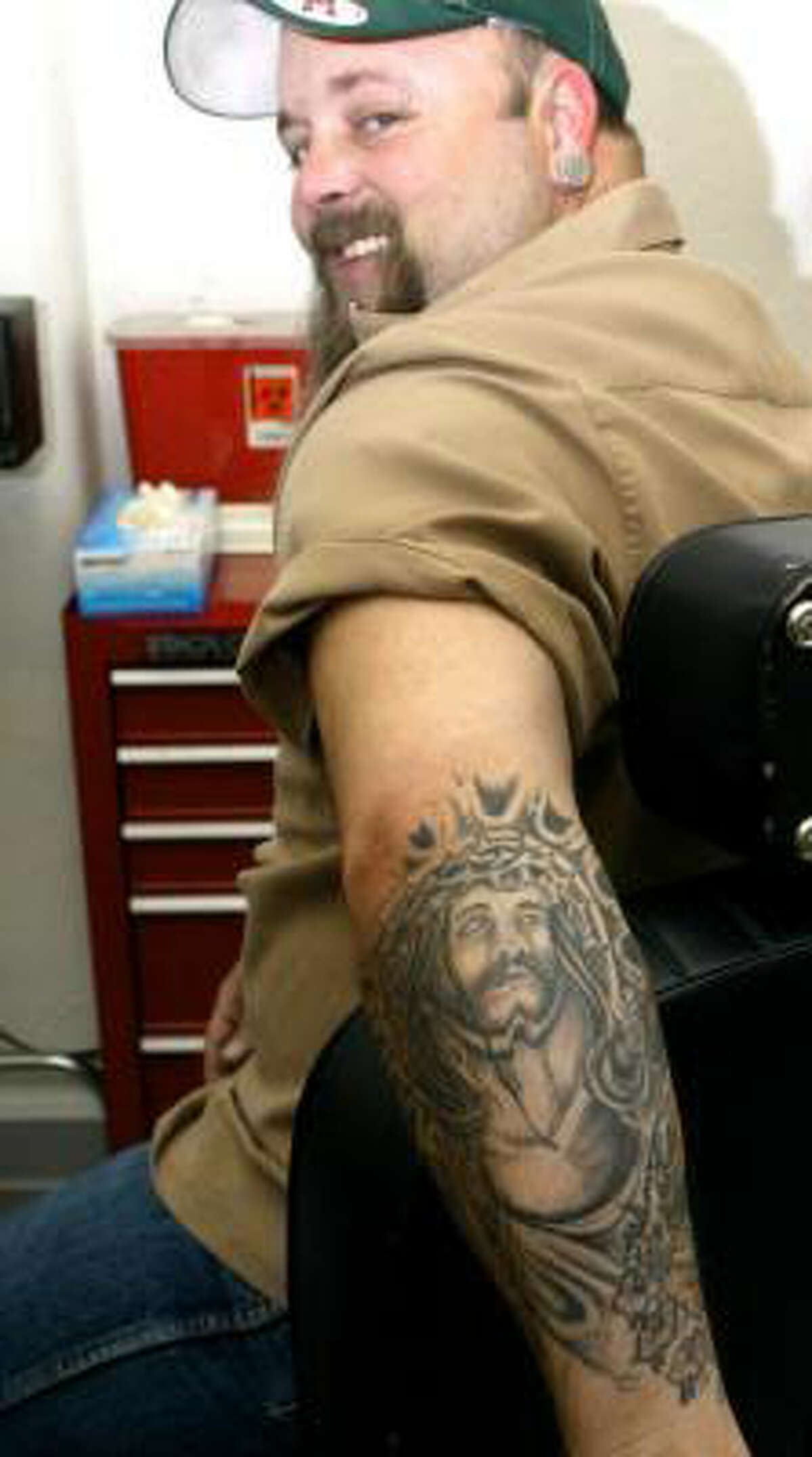 Another tattoo of Jesus. (AP)